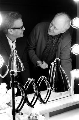 Barry Goralnick and John Lithgow with the Reeves Desk Lamp