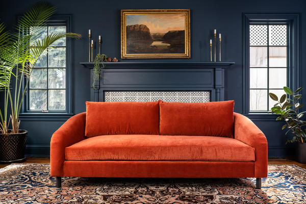 Hawthorne Sofa in velvet