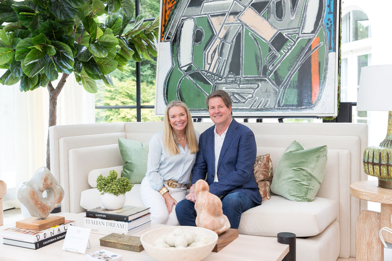 The showhouse's Honorary Chair, Melanie Turner,  owner of Melanie Turner Interiors, with Stan Benecki of Benecki Homes