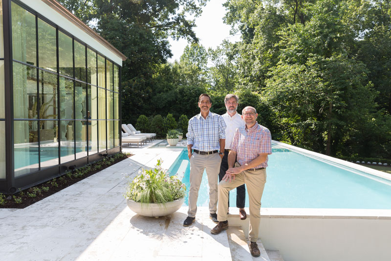 Alec Michaelides, Charlie Sears and Chris Holden of Land Plus Associates