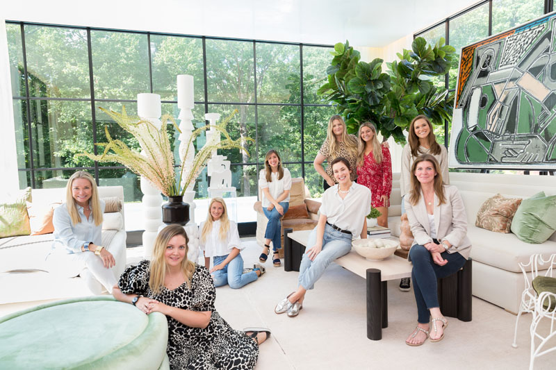 The team from Melanie Turner Interiors