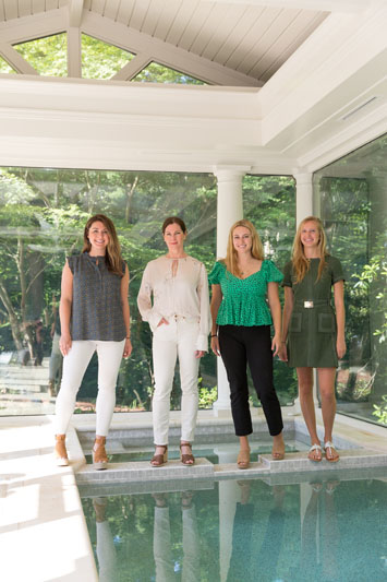 Katie Moorhouse, Melanie Millner, Katelyn Cook and Courtney Howley of The Design Atelier