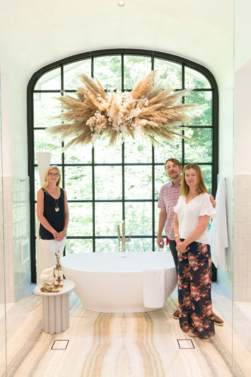 Mary Elizabeth Finkey, Russell Adams and Stacey Adams of MTI Baths