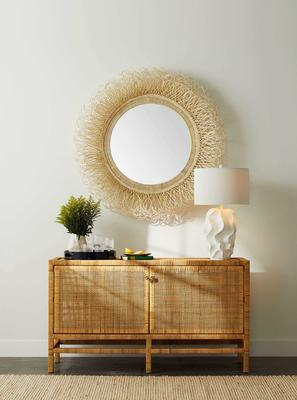 Fabian Mirror, Bethany Table Lamp, and Isla Buffet
