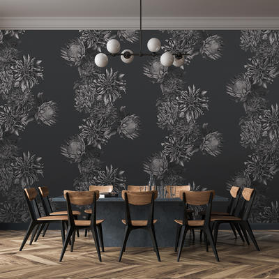 Dahling Wallpaper in Charcoal