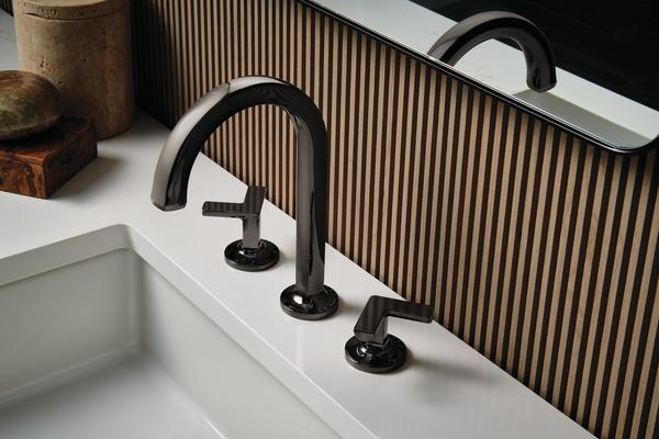 A Kintsu Collection faucet in the new Brilliance Black Onyx finish