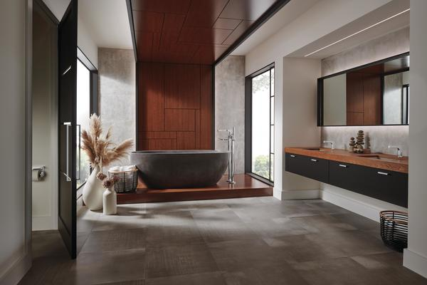 A bath featuring Kintsu Collection fixtures
