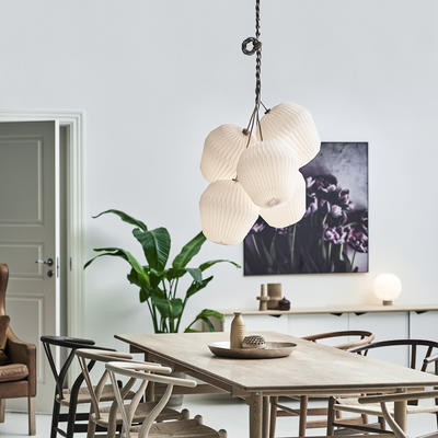 From Le Klint, the Bouquet Pendant Lamp Collection, designed by Sinja Svarrer Damkjær