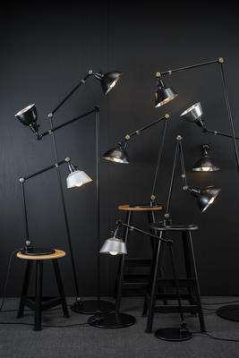 From Midgard, the Modular Lamp Collection, designed in the 1930s by Curt Fischer