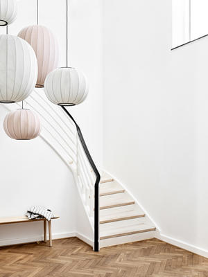 From Made by Hand, the Knit-Wit Lamp Collection, designed by Iskos-Berlin
