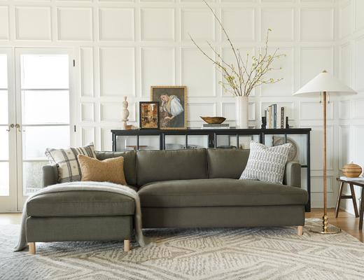 Belmont Sectional Sofa in Loden