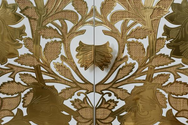 Close up of Selamat x Morris & Co. Poppy Armoire