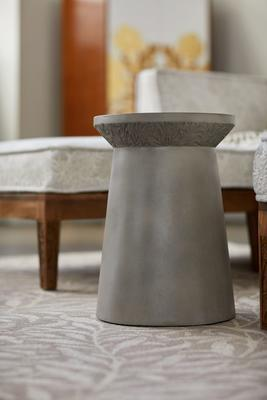Selamat x Morris & Co. Willow Bough Side Table, an indoor/outdoor accent table crafted from glass-reinforced concrete