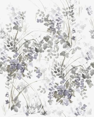 Heavenly in Violet Wallpaper