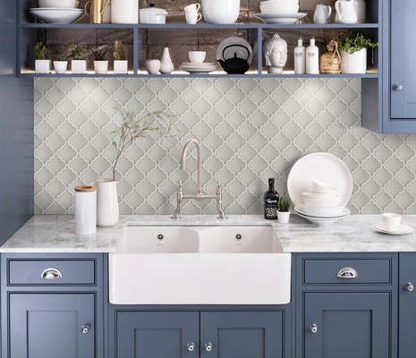 Morocco's arabesque shapes add a classic accent to any wall or backsplash application.