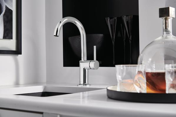 Bar Faucet with Arc Spout from the Odin Kitchen Collection