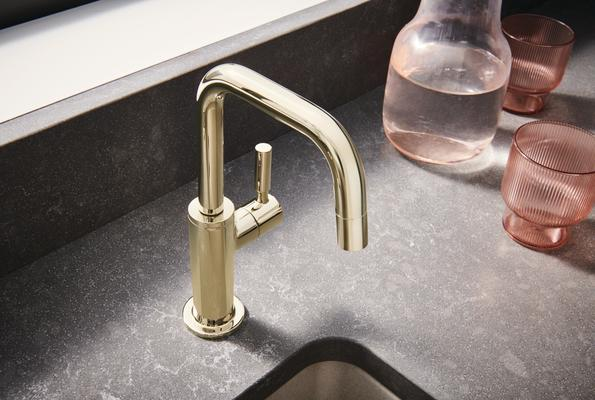 Beverage Faucet with Square Spout from the Odin Kitchen Collection