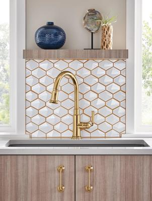 Pull-Down Faucet from the Rook Kitchen Collection