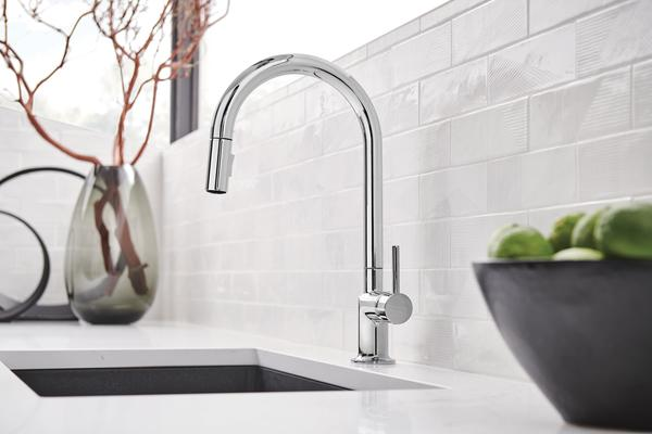 Pull-Down Faucet with Arc Spout from the Odin Kitchen Collection
