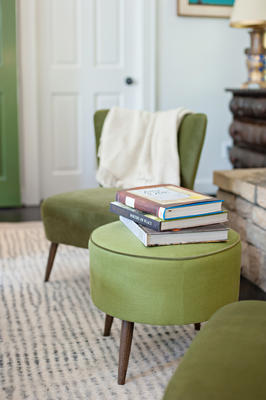 Crosby Chair and Lil Ottoman