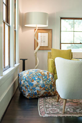 Pouf in Bungalow, Marine