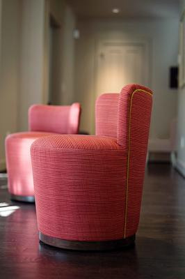 Teeny Chair in Bamboo, an exclusive Coley Home print, in Red Rocks