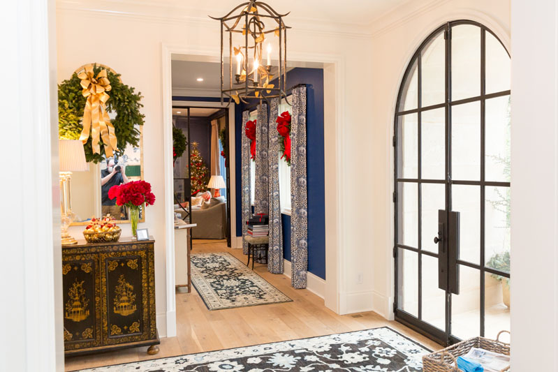 The entry foyer is by interior designer Judy Bentley, the event's Honorary Chair.