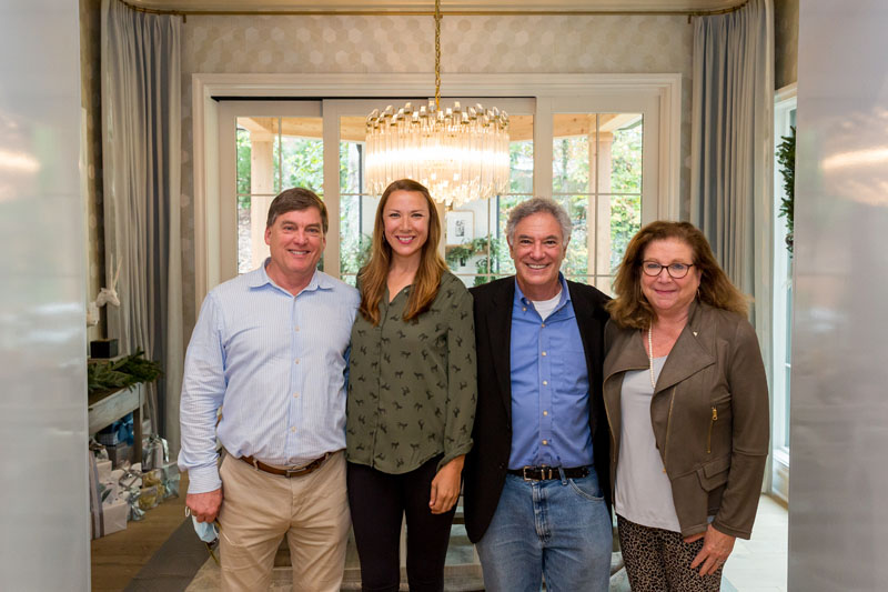 Steve Kamin of Hartstone, Lucinda Bray of Floralis Garden Design, Brad Hanner of Atlanta Homes & Lifestyles, and Diane Clegg of Georgia Primary Bank