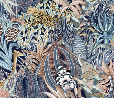 Ardmore Sabie Forest fabric in Dawn