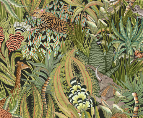 Ardmore Sabie Forest fabric in Delta, available in linen or velvet