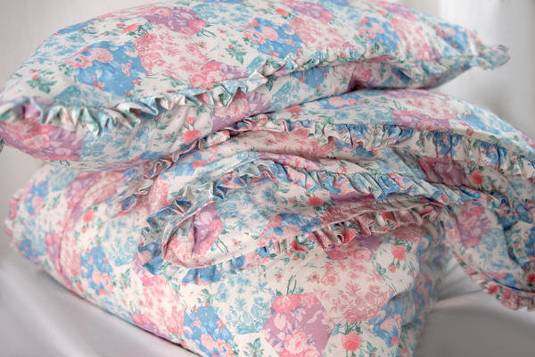 Petite Ruffle patchwork poplin collection in Soft Pastels