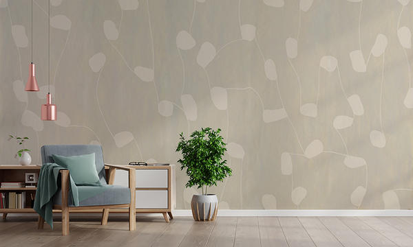 Synergy Wallcovering in Creme