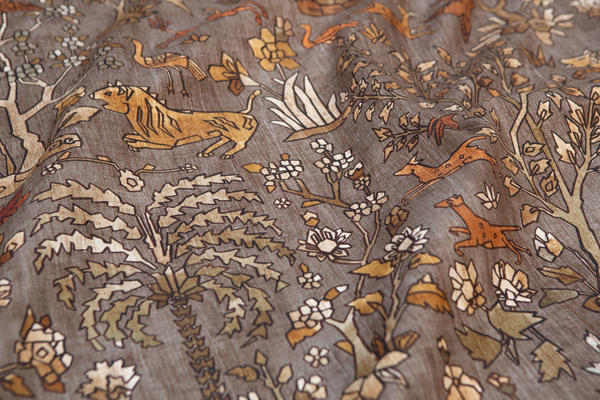 Mighty Jungle fabric in Autumn