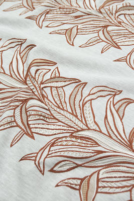 Kentia embroidered linen in Autumn
