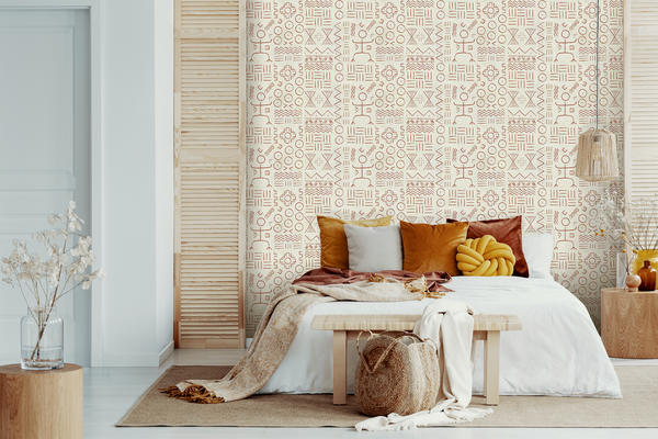 Dogon wallcovering in Rust