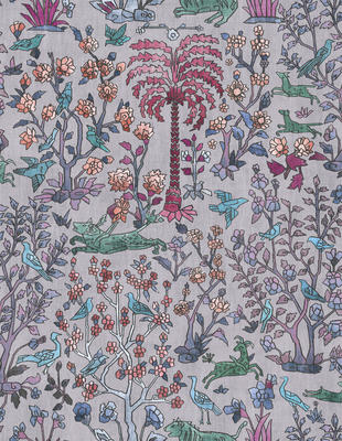 Mighty Jungle wallcovering in Lilac