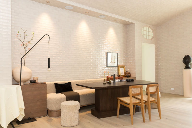 The breakfast room and furniture are by Karpaty.