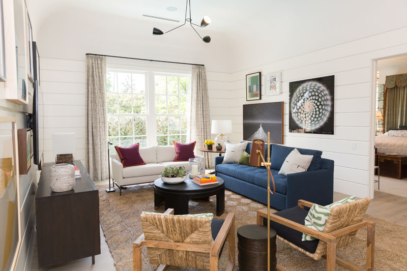Upstairs lounge by Atlanta designer Chris Holt of Holt Interiors and retailer Noah J. & Co.