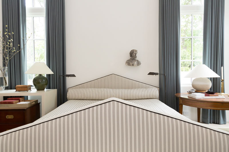 The primary bedroom, designed by Nashville's Jason Arnold Interiors