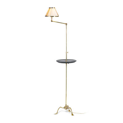 Grasshopper floor lamp with tray table