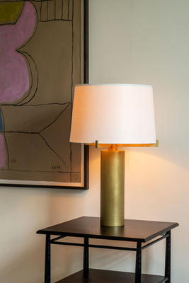 Bramley table lamp in Tumbled Brass