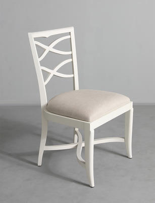 Armless Romsey chair in White