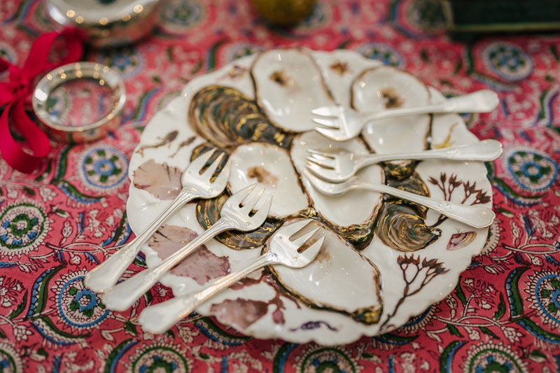 An oyster plate from Gray Antiques