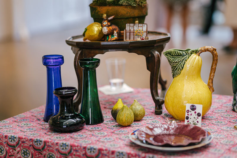 A display of offerings from Gray Antiques