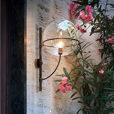 Lyndon Outdoor Wall Sconce by Vico Magistretti for Oluce