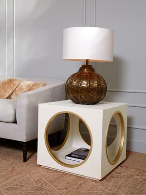 Latrice table lamp and Vasant side table