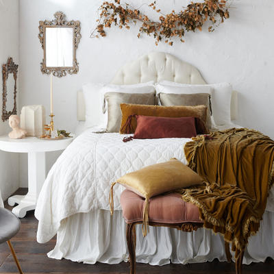 Harlow Shams and Harlow Coverlet in Winter White