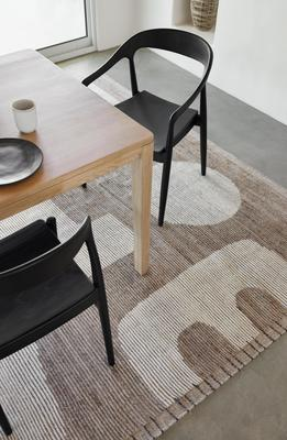 Abode Rug by Élan Byrd, styled with the Reese Dining Table and Ida Dining Chairs