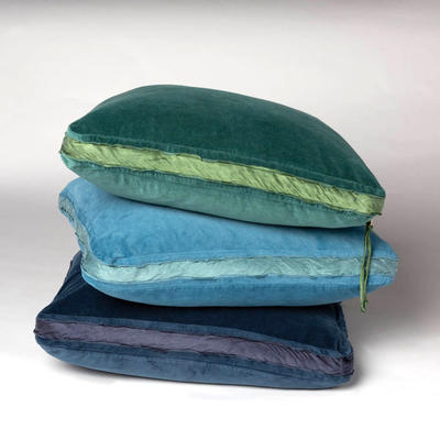 Harlow 24x24 Pillows in Jade, Cenote and Midnight