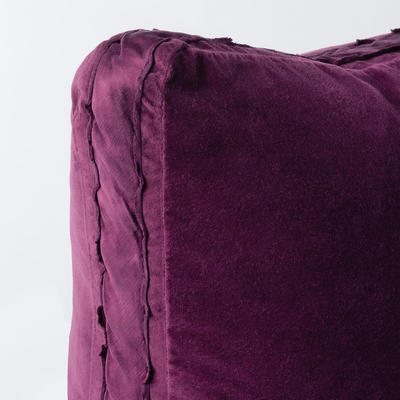 Gusset detail on Harlow's pillow and sham styles